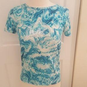 MICHAEL Michael Kors Tops - Michael Kors Logo Print T Shirt in Size Small